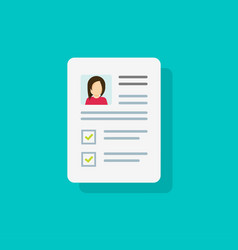 Documents with personal data icon flat vector