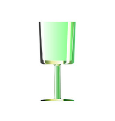 empty glass shot for green alcoholic drinks vector image