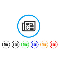 euro newspaper rounded icon vector image