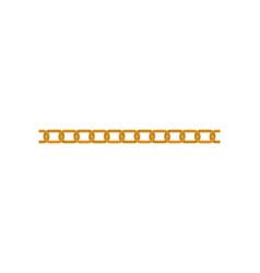 flat icon of seamless golden chain stylish vector image
