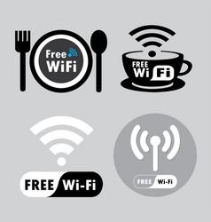 free wifi logo vector image