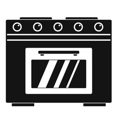 Gas oven icon simple style vector