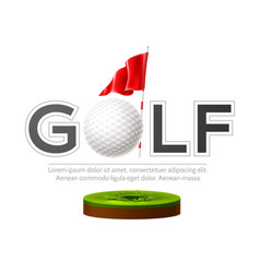 Golf tournament poster golf club and ball vector