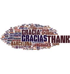gracias word cloud concept vector image