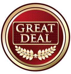 Great Deal Red Label vector image