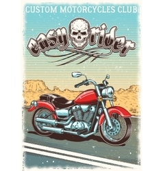 hand-drawn vintage motorcycle on grunge vector image