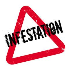 infestation rubber stamp vector image