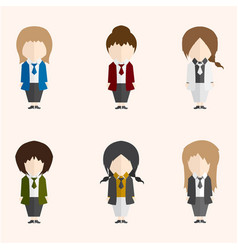 Infographic cartoon cute woman in formal suite vector
