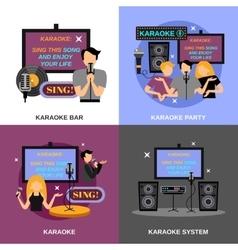 Karaoke Flat Set vector image