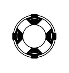 Lifebuoy black line icon life belt lifeboat vector