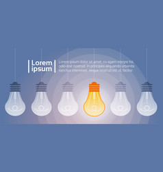 Light bulb shining new creative idea business vector