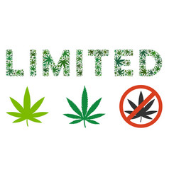 Limited label composition of marijuana vector