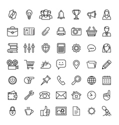 line icons set icons for business vector image