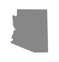 Map of the us state of arizona vector