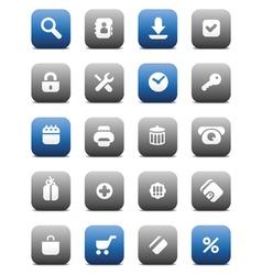 Matte buttons for internet vector