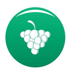 Mellow grape icon green vector