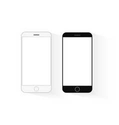 mobile phone mockup black and white telephone vector image