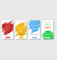 modern brush stroke mobile for flash sale banners vector image