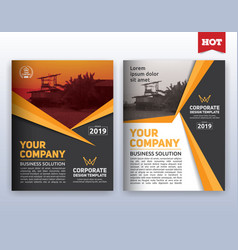 Modern corporate business flyer layout template vector