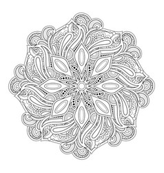 monochrome beautiful decorative mandala vector image
