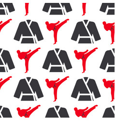 monochrome fitness emblem design seamless pattern vector image