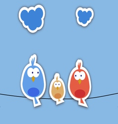 New bird family collage vector image