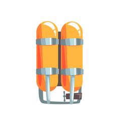 Orange oxygen cylinders vector