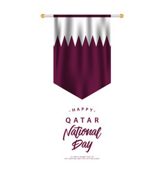 Qatar national day template design vector