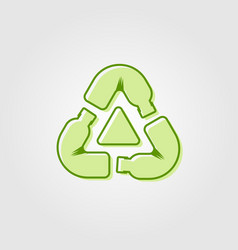 recycle plastic bottle logo icon line outline vector image