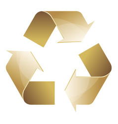 recycle symbol of conservation brown icon vector image