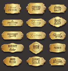 retro vintage golden frames sale collection vector image