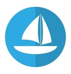 Sailboat navigation water recreation shadow vector