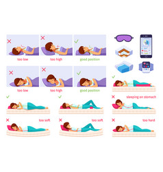 sleeping nice cartoon set vector image