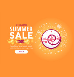summer sale banner with gift vector image