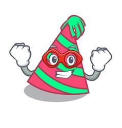 Super hero party hat character cartoon vector