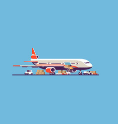 Transport airplane aircraft express delivery vector