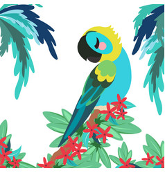 tropical banner with parrot vector image