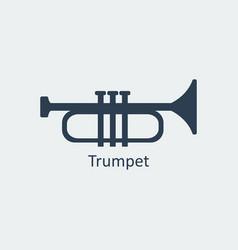 Trumpet icon silhouette icon vector