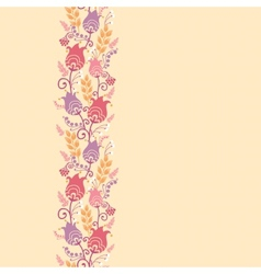 tulip flowers horizontal seamless pattern vector image