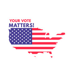 usa voting label american presidential election vector image