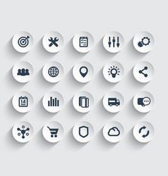 Web icons set marketing e-commerce service vector