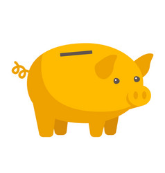 yellow piggy bank cartoon vector image