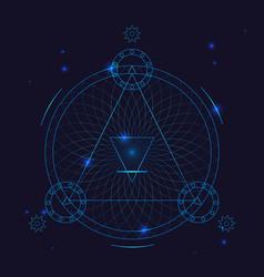 alchemy geometry symbol thin line vector image