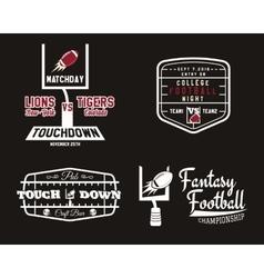 American football field and goal team badge sport vector