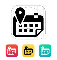 Calendar with location icon vector image vector image