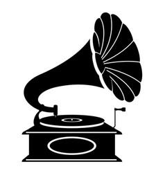 gramophone old retro vintage icon stock vector image vector image