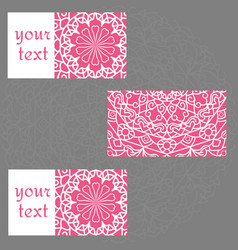 template business cards with oriental pattern and vector image