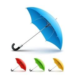 Umbrellas color set vector image