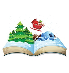 Winter book vector image vector image
