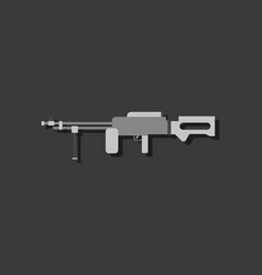 Flat icon design collection military heavy vector